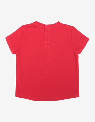 Scuderia Ferrari Online Store - Infant girls' T-shirt with glitter print - Short Sleeve T-Shirts