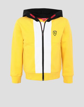Scuderia Ferrari Online Store - Unisex children's hooded sweatshirt in French Terry - Zip Jumpers
