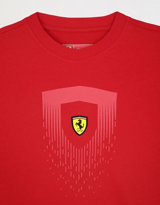 Scuderia Ferrari Online Store - Children's T-shirt with mini-me Shield print - Short Sleeve T-Shirts