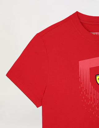 Scuderia Ferrari Online Store - Boys' T-shirt with mini-me Scudetto print - Short Sleeve T-Shirts