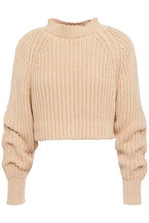 ESTEBAN CORTAZAR Cropped ribbed cotton sweater