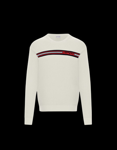 CREWNECK Ivory Category Crewneck sweaters Man