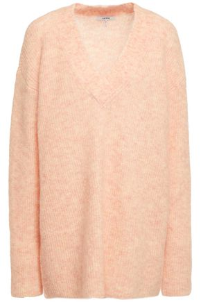 GANNI Mélange knitted sweater