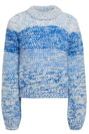 GANNI Julliard dégradé mohair and wool-blend sweater