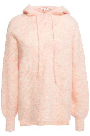 GANNI Callahan mélange brushed knitted hoodie
