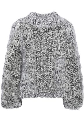 GANNI モヘア&ウール混オープンニット セーター