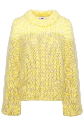 GANNI Mélange mohair and wool-blend sweater