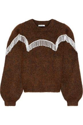 GANNI Aberdeen bead-embellished brushed knitted sweater