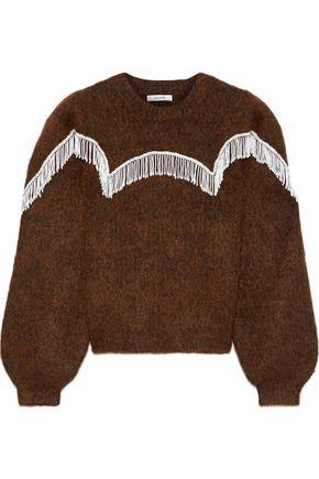 GANNI ビーズ付き ブラッシュドニット セーター