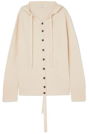 J.W.ANDERSON Oversized wool and cashmere-blend hooded cardigan