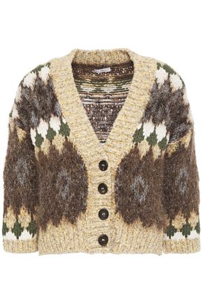 BRUNELLO CUCINELLI Metallic jacquard-knit cardigan