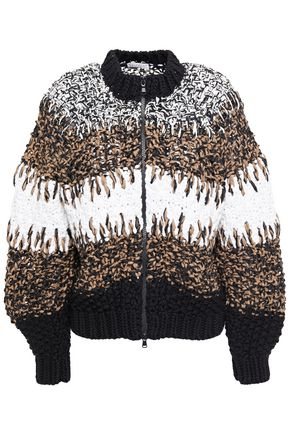 BRUNELLO CUCINELLI Sequin-embellished marled cotton cardigan