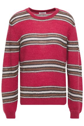 BRUNELLO CUCINELLI ストライプリブ編みニット セーター