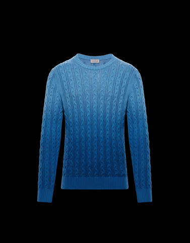 CREWNECK Blue Category Jumpers Man