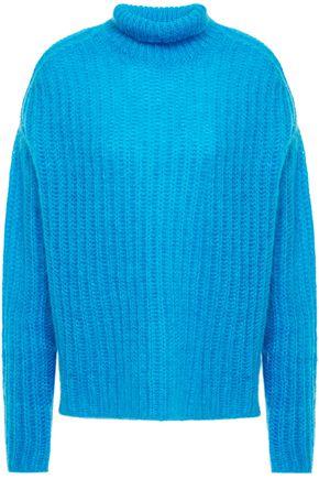 MARNI Oversized open-knit mohair-blend turtleneck sweater
