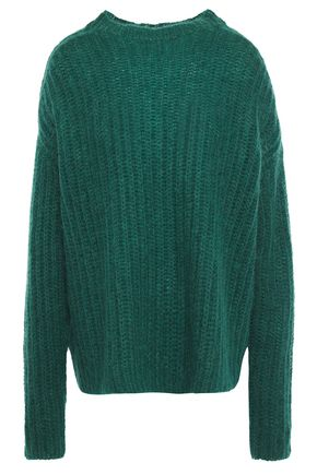 MARNI Oversized ribbed mohair-blend sweater