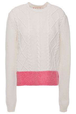 MARNI Brushed cable-knit sweater