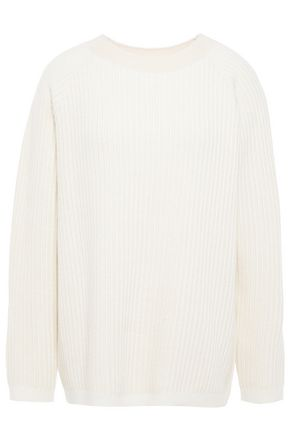 THEORY Ribbed mélange cashmere sweater