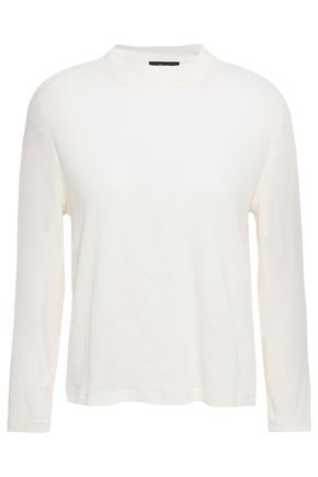 THEORY Ribbed cotton and cashmere-blend sweater