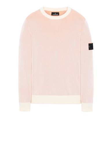 STONE ISLAND SHADOW PROJECT 509A1 CREWNECK VANISÉ Sweater Man Salmon pink EUR 261
