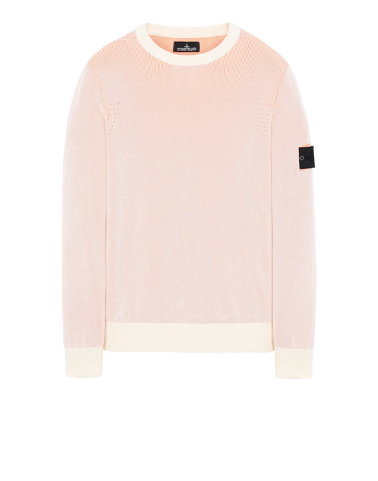 STONE ISLAND SHADOW PROJECT 509A1 CREWNECK VANISÉ Sweater Man Salmon pink