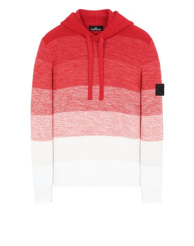 STONE ISLAND SHADOW PROJECT 501A4 GRADIENT KNIT HOODIE Sweater Man Red USD 703
