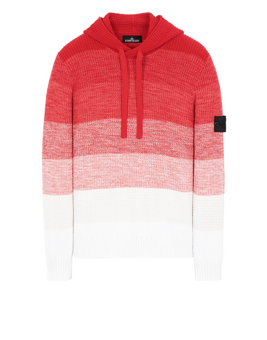 STONE ISLAND SHADOW PROJECT 501A4 GRADIENT KNIT HOODIE Sweater Man Red