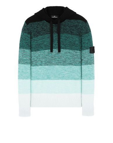 STONE ISLAND SHADOW PROJECT 501A4 GRADIENT KNIT HOODIE Sweater Man Emerald Green EUR 530
