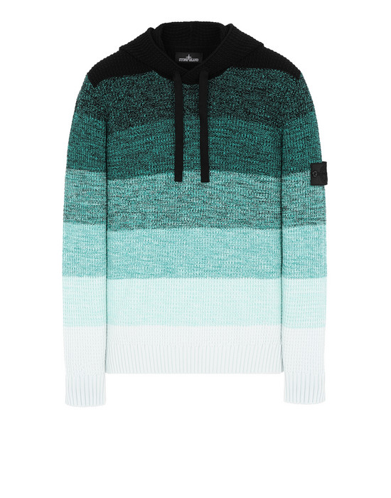 STONE ISLAND SHADOW PROJECT 501A4 GRADIENT KNIT HOODIE Sweater Man Emerald Green