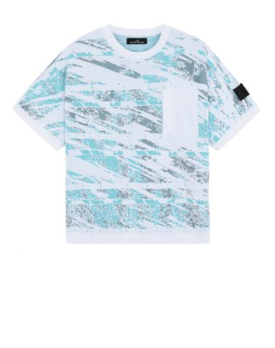 STONE ISLAND SHADOW PROJECT 502A3 GRAPHIC SHORT SLEEVE KNIT  针织衫 男士 白色 EUR 349