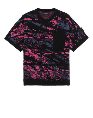 STONE ISLAND SHADOW PROJECT 502A3 GRAPHIC SHORT SLEEVE KNIT  针织衫 男士 黑色 EUR 349