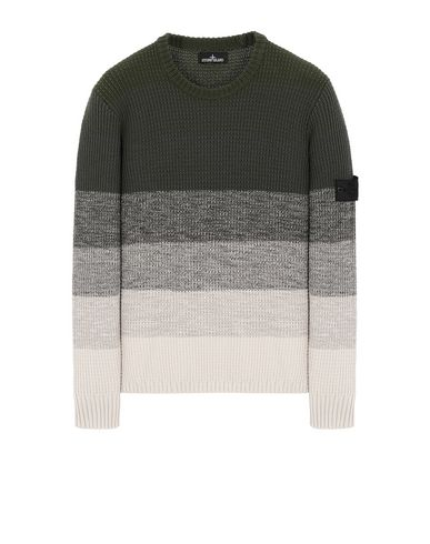 STONE ISLAND SHADOW PROJECT 507A4 GRADIENT KNIT CREWNECK Sweater Man Olive Green USD 548