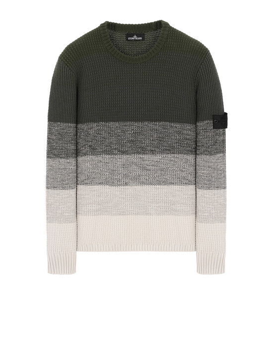 STONE ISLAND SHADOW PROJECT 507A4 GRADIENT KNIT CREWNECK 针织衫 男士 橄榄绿色