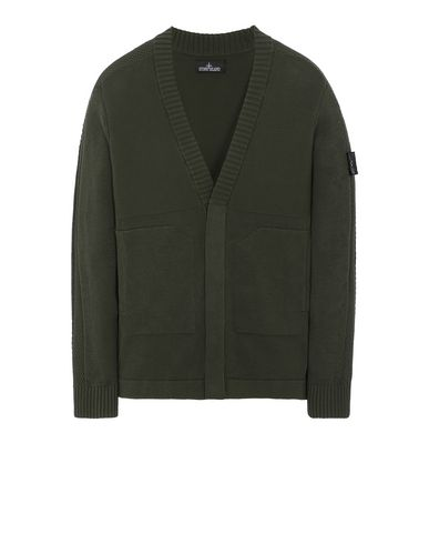 STONE ISLAND SHADOW PROJECT 510A2 CARDIGAN KNIT Sweater Man Olive Green EUR 629