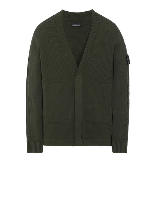 STONE ISLAND SHADOW PROJECT 510A2 CARDIGAN KNIT Sweater Man Olive Green