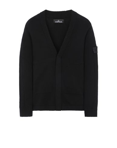 STONE ISLAND SHADOW PROJECT 510A2 CARDIGAN KNIT Sweater Man Black USD 437
