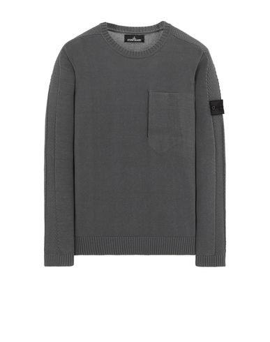 STONE ISLAND SHADOW PROJECT 504A2 CATCH POCKET CREWNECK Tricot Homme Bleu gris EUR 459