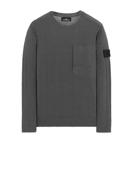 STONE ISLAND SHADOW PROJECT 504A2 CATCH POCKET CREWNECK Tricot Homme Bleu gris