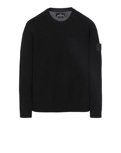STONE ISLAND SHADOW PROJECT 504A2 CATCH POCKET CREWNECK Sweater Herr Schwarz EUR 319
