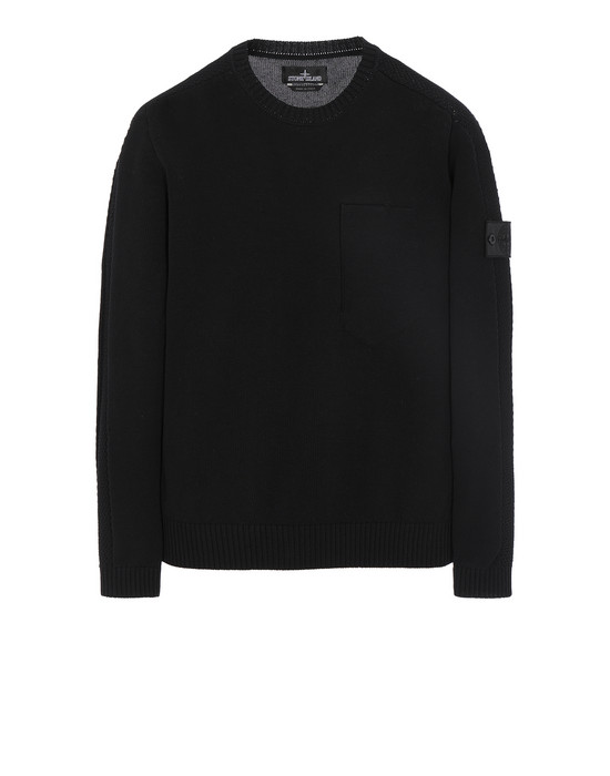 STONE ISLAND SHADOW PROJECT 504A2 CATCH POCKET CREWNECK Sweater Man Black