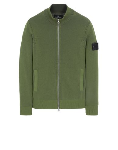STONE ISLAND SHADOW PROJECT 508A1 TRACK JACKET VANISÉ Sweater Man Olive Green USD 293