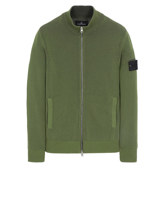 STONE ISLAND SHADOW PROJECT 508A1 TRACK JACKET VANISÉ Sweater Man Olive Green