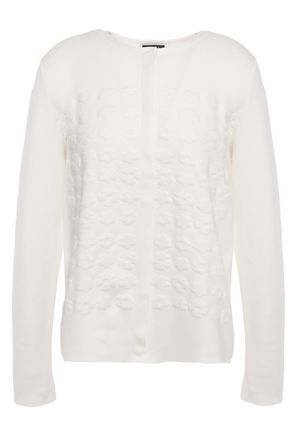 AKRIS Jacquard-knit silk-blend cardigan