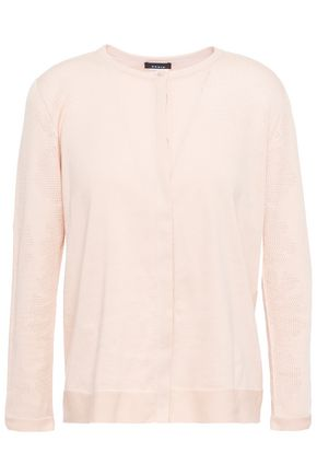 AKRIS Pointelle-knit cotton cardigan
