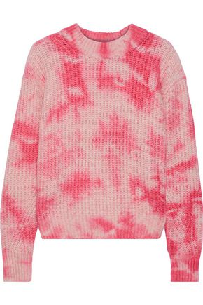 LINE Tie-dyed cotton-blend sweater