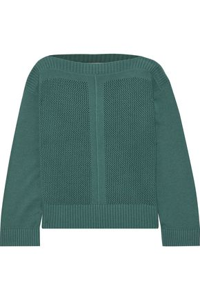 VANESSA BRUNO Open-knit wool and cashmere-blend sweater