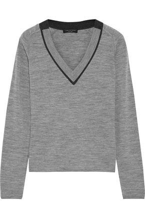 RAG & BONE 透かし編みトリム メリノウール セーター