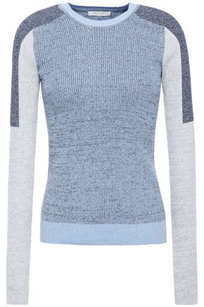 RAG & BONE カラーブロック リブ編みオーガニックコットン混 セーター