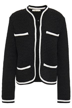 MAJE Moniclou cropped metallic tweed jacket