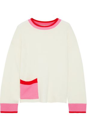 CHINTI & PARKER Color-block wool and cashmere-blend sweater